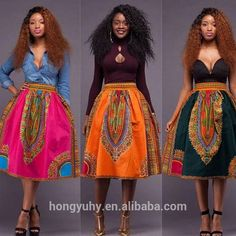 factory price m40908 beautiful african dashiki skirts for african women made from 100% cotton wholesale
