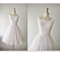 50's Chiffon Dress // Vintage 1950's Draped by TheVintageStudio, $178.00
