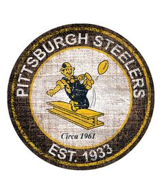 Look at this Pittsburgh Steelers Heritage Logo Sign on #zulily today!