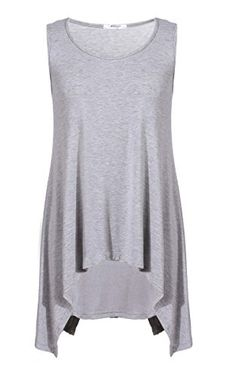 d143c3fee1f71 Meaneor Women s Pullover Sleeveless High Low Tank Top Blouse Meaneor  http   www.