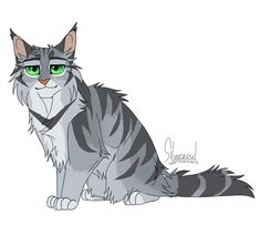 Riverstar - Warrior Cats are super! by Silverzoul - Warrior Cat Memes, Warrior Cats Series, Warrior Cats Art, Warrior Drawing, Cat Whiskers, Anime Animals, Anime Wolf, Cat Drawing, Cat Design