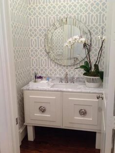 Today on the blog I'm talking aboutstylishpowder rooms. Powder room designs providethe perfect opportunity to have fun and go bold. Whether&n