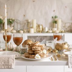 """Lauren Conrad Co.'s Instagram profile post: """"My oh my @amanda.wilens. This stunning Halloween Party Tablescape is unreal, and comes with a delicious Apple Cider Chai and Spiced Oatmeal…"""""""