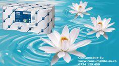 Noua gama de prosoape hartie in rola Tork inscriptionate cu Floare de Lotus!  Dozarea economica le face ideale pentru toaletele aglomerate.