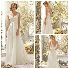 Vestido De Noiva New Arrival 2014 New Fashion Elegant A Line Cap Sleeve Beading Lace Backless Bridal Gown Wedding Dress-in Wedding Dresses f...
