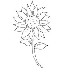 How to draw a flower for kids how to draw flowers fun drawing lessons for kids Love Drawings, Cartoon Drawings, Animal Drawings, Easy Drawings, Nature Drawing, Plant Drawing, Painting & Drawing, Drawing Lessons For Kids, Art Lessons