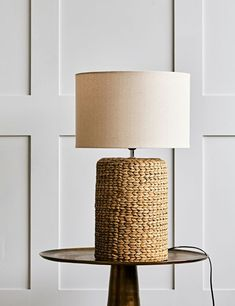 Natural Rope Table Lamp Home Accessories Stores, Feature Wall Bedroom, Modern Industrial, Industrial Desk, Simple Shapes, Pendant Lighting, Pendant Lamps, Light Table, Interior Styling