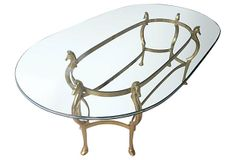 Brass Horse Heads Dining Table on OneKingsLane.com
