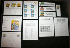 FREE CCSS packet for 1st Day Jitters.  These packets truly are a very simple, quick, and easy way to cover the Common Core State Standards: RI.K5,RI.K6,RI.K9,RI.K10,RL.K2, RL.K3,RL.K6, L.K1d, RI.1.9, RL.1.2, RL.1.3 in a short amount of time.    Your students will enjoy them, as they are empowered by the consistency in format.