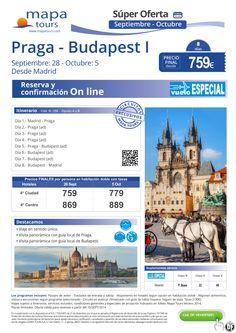 Praga-Budapest I-Sept-Oct desde Madrd**Precio final desde 759** ultimo minuto - http://zocotours.com/praga-budapest-i-sept-oct-desde-madrdprecio-final-desde-759-ultimo-minuto/