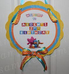 Personalized Door Tag Sign Pocoyo Birthday Party Decoration Custom | eBay