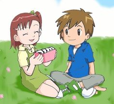 Katou Juri (Jeri) and Matsuki Takato - Digimon Tamers