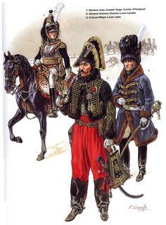 Generali francesi, d'Hautpoul, Lasalle e Lepic