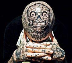 Die verrücktesten Tattoos der Welt Part 01 – Tattoo Spirit Payasa Tattoo, Tattoo Crane, Ta Moko Tattoo, Scalp Tattoo, Tattoo Motive, Weird Tattoos, Great Tattoos, Skull Tattoos, Body Art Tattoos