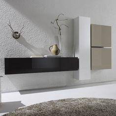 Hoogglans witte wandkast Lemvig | Zen Lifestyle