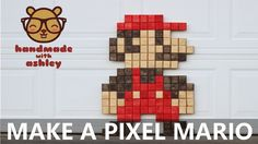 Make a Supersize Pixel Mario | Two 2x4 Challenge - YouTube