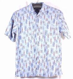 OP Sport Ocean Pacific Size XXL 2XL Hawaiian Aloha Loud Shirt Tiki Surf Fishing #OceanPacificOPSport #Hawaiian