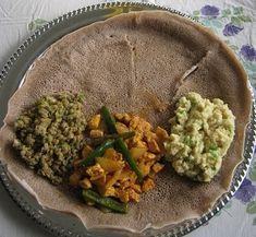 Lots of Ethiopian recipes - gomen, doro tibs wat, duba wat, butecha, kitfo, ayib, inqualal tibs, katgna, kolo