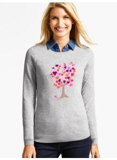 Hearts Family Tree Sweater