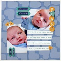 punch a background scrapbook-layouts
