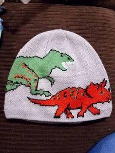 293f95782b2c1 Turtle Fur Boys Jurassic Dinosaur T Rex Triceratops Knit Beanie ... Turtle  Fur