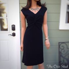 Tory Burch Patrice Wool Crepe Knot Dress Simply Gorgeous LBD from Tory. Effortless knot design with lovely crepe textured fabric. A classic piece! NWT!!! The Chic Shed; A Current and Classic Fashion Curation.  10% OFF BUNDLES I ❤️ THE OFFER BUTTON ❌NO PP, TRADES, HOLDS❌  15% OFF RETURN BUYER BUNDLES Tory Burch Dresses