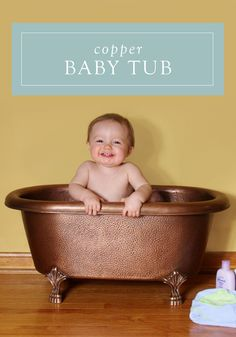 clawfoot baby bath tub. 32  Baby Hammered Copper Clawfoot Tub Kids Bathtub Posing Prop Toddler portraits Backdrops and Babies