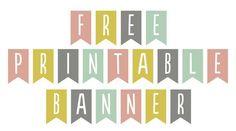 Banderines con Letras Imprimibles Free