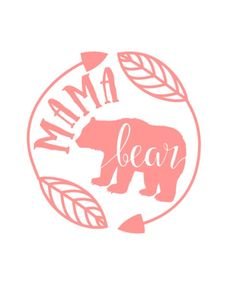 Mama Bear decal car decal cup decal mommy mom by TheLittlePines Cricut Vinyl, Vinyl Decals, Wall Stickers, Wall Decals, Monogram Stickers, Car Window Decals, Wall Art, Vinyl Art, Vinyl Crafts