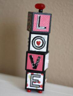DIY L-O-V-E 3D Block Decoration
