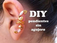 ▶ DIY Como hacer pendientes o aretes sin agujeros con alambre de aluminio. Earring, Pending - YouTube