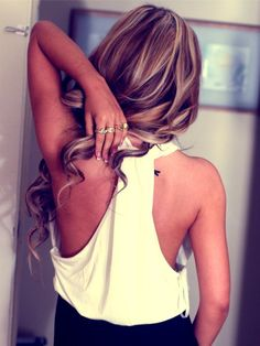 Brown with blonde highlights