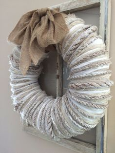 [orginial_title] – Pam Brown Wreath From Live Tour of Modern Farmhouse wreath from live tour of modern farmhouse, crafts, how to, wreaths Wreath Crafts, Diy Wreath, Door Wreaths, Burlap Wreath, Diy Crafts, Wreath Ideas, Yarn Wreaths, Felt Wreath, Fabric Wreath