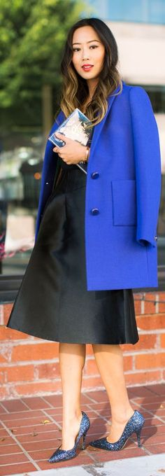 Klein Blue Taylor Coat by Song Of style