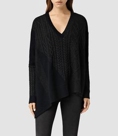 Womens Link Draped Sweater (Ink Mix) - product_image_alt_text_1