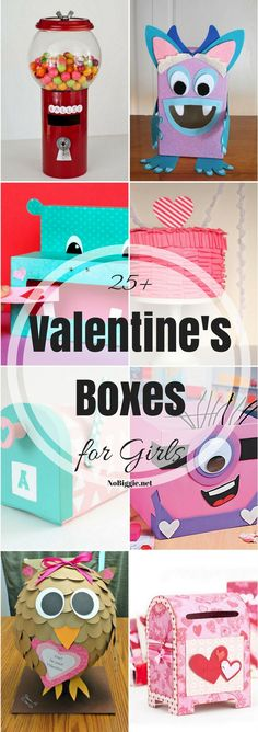 Do you have a Little Miss that will need a fun Valentine's box for school? If so, you're in luck with this great list of 25 Valentine boxes for girls. Homemade Valentines Day Cards, Valentine Boxes For School, Valentines For Kids, Valentine Ideas, Valentine Crafts, Funny Valentine, Printable Valentine, Valentine Wreath, Amigurumi