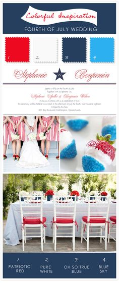 4th of july wedding inspiration- super cute for a military wedding!