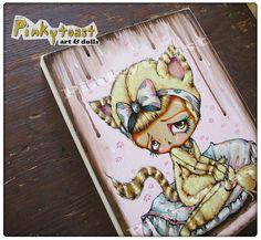 I'm Sorry-Kitty Cat Girl-Pinkytoast Painting by pinkytoast, via Flickr