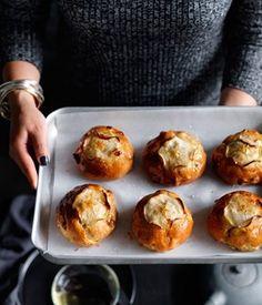 Australian Gourmet Traveller Portuguese Easter dessert recipe for sticky caramel buns.