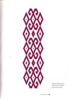 TELAR MAPUCHE.pdf Diy Necklace Patterns, Card Weaving, Willow Weaving, Crochet Chart, Textiles, Indigo, Cross Stitch, Tattoos, Ecuador