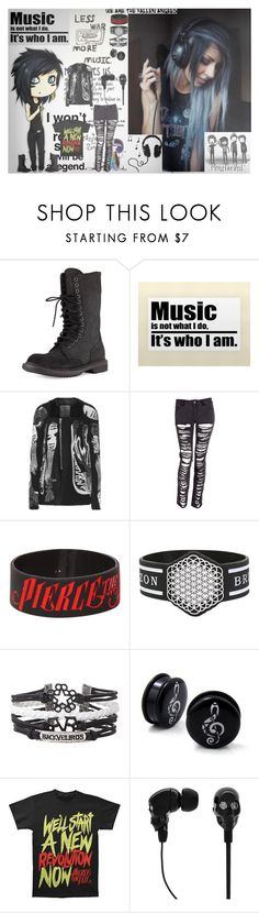 """Music Not War"" by anamaefire ❤ liked on Polyvore featuring Rick Owens and 2Me Style"