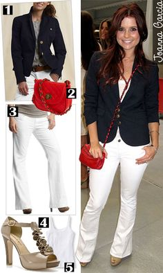 Work Outfit:Joanna Garcia  NOTE: This outfit is cute and buisness like...the red purse is adorable