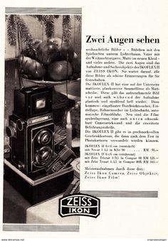 Werbung - Original-Werbung/ Anzeige 1936 - 1/1-SEITE - ZEISS IKON - ca. 220 X 145 mm