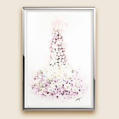 """""""Croquembouche"""" by Enya Todd. Watercolour on Paper, Subject: Still life, Illustrative style, One of a kind artwork, Signed on the front, This artwork is sold unframed, Size: 29.7 x 42 x 0.2 cm (unframed), 11.69 x 16.54 x 0.08 in (unframed), Materials: watercolour"""