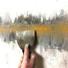 Applying gold paint in a DIY abstract painting tutorial Jennifer Rizzo DIY Abstract Heart Painting and a Fun Paint Party 10 Easy DIY Painting For Home Decor – Easy Home Decorating Abstract Painting Demonstration Abstract Painting Techniques, Abstract Canvas Art, Acrylic Painting Canvas, Diy Painting, Abstract Painting Tutorial Acrylics, Canvas Canvas, Art Techniques, Watercolor Painting, Contemporary Abstract Art