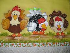 .Here are more chickens for my kitchen--db