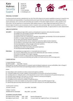 Sample Security Guard Resume Brilliant Topresumes Tounni85 On Pinterest