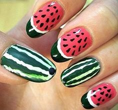 31 Best Nail Art Fruits Images On Pinterest Cute Nails Nail Art