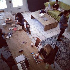 Makeshift Society   shared desk space - hotdesking ideas