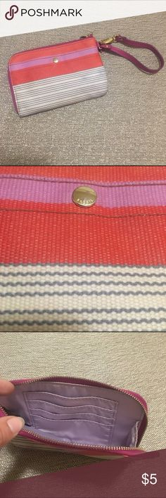 Fossil Wristlet Used good condition. Fossil Bags Clutches & Wristlets
